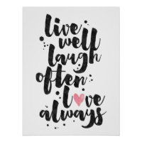 Live Laugh Love - Inspirational Poster
