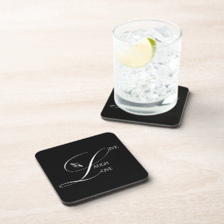 Live, Laugh, Love Inspirational Words & Bumble Bee Beverage Coaster