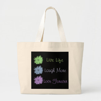 Live Laugh Love Large Tote Bag