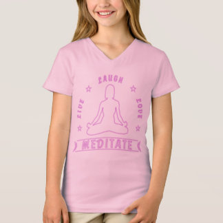Live Laugh Love Meditate Female Text (neon) T-Shirt
