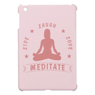 Live Laugh Love Meditate Female Text (pink) Cover For The iPad Mini