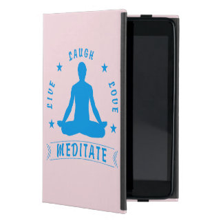 Live Laugh Love Meditate Male Text (blue) Cover For iPad Mini