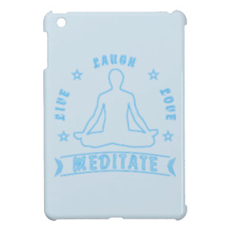 Live Laugh Love Meditate Male Text (neon) iPad Mini Cases