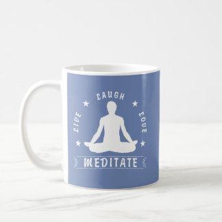 Live Laugh Love Meditate Male Text (wht) Coffee Mug