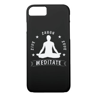 Live Laugh Love Meditate Male Text (wht) iPhone 8/7 Case