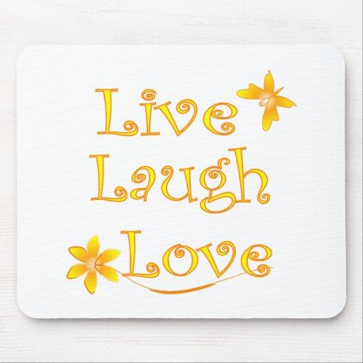 Live Laugh Love Mouse Pads