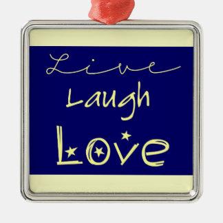 Live laugh love necklace christmas ornament