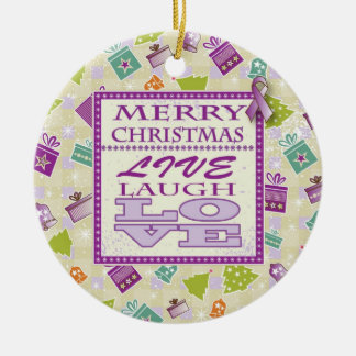 Live Laugh Love Pancreatic Cancer Ornament