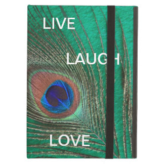 Live Laugh Love Peacock Feather iPad Air Cover