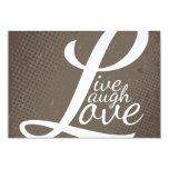LIVE LAUGH LOVE PERSONALISED INVITATION