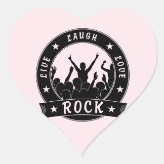 Live Laugh Love ROCK (blk) Heart Sticker