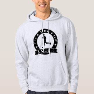 Live Laugh Love RUN male circle (blk) Hoodie