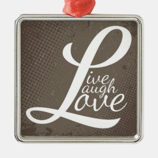 LIVE LAUGH LOVE Silver-Colored SQUARE DECORATION