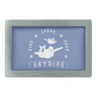 Live Laugh Love Skydive. Rectangular Belt Buckle