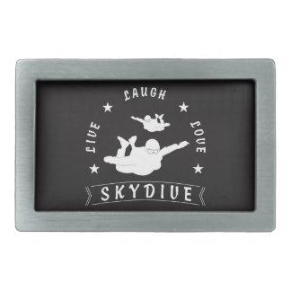 Live Laugh Love Skydive. Rectangular Belt Buckles