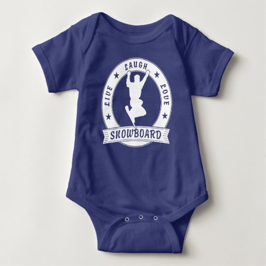 Live Laugh Love SNOWBOARD 2 Circle Baby Bodysuit