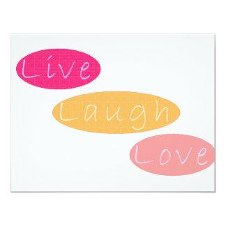 Live Laugh Love Stationery 11 Cm X 14 Cm Invitation Card