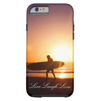 Live Laugh Love Sunset Surfer Phone Case