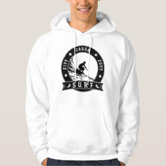 Live Laugh Love Surf 2 (Black Circle) Hoodie