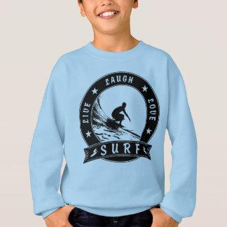 Live Laugh Love Surf 2 (Black Circle) Sweatshirt