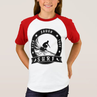 Live Laugh Love Surf 2 (Black Circle) T-Shirt
