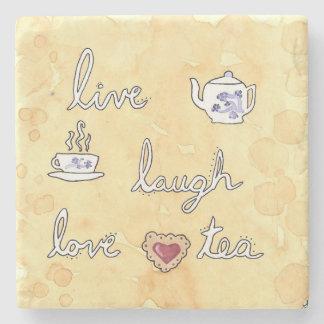 Live Laugh Love (tea) Stone Coaster