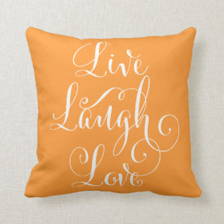 Live Laugh Love throw pillow - orange