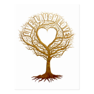 Live Laugh Love - Tree of Life Postcard