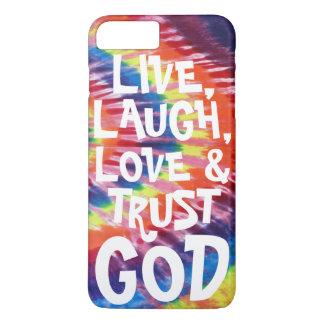 LIVE, LAUGH, LOVE & TRUST GOD iPhone 7 PLUS CASE