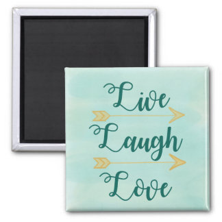 Live Laugh Love watercolor Magnet