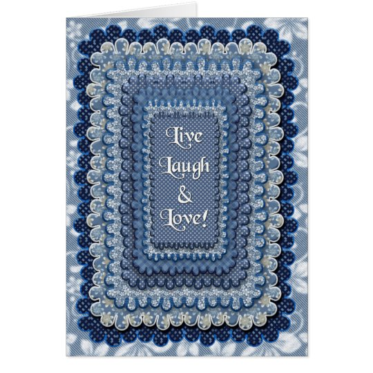 LIVE, LAUGH, LOVE - Wishing Happiness Card