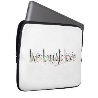 Live, Laugh, Love Words Laptop Sleeve