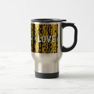 live laugh love yellow stainless steel travel mug