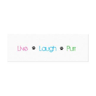 live laugh purr canvas print