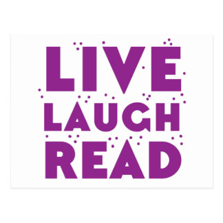 live laugh read postcard