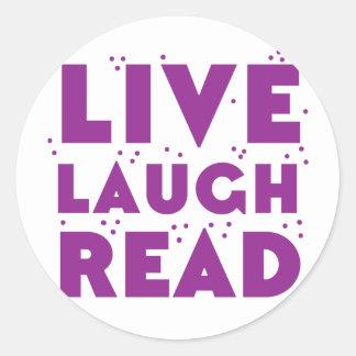live laugh read round sticker