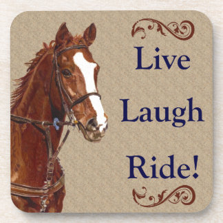 Live Laugh Ride! Horse Drink Coasters