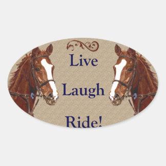 Live Laugh Ride! Horse Sticker