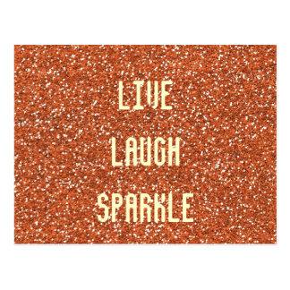 Live Laugh Sparkle Postcard
