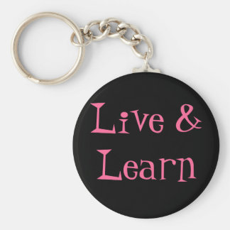 Live & Learn Basic Round Button Key Ring