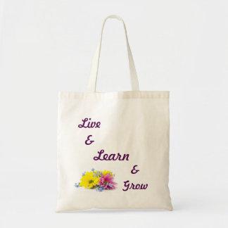 Live, Learn, Grow Totebag Tote Bag