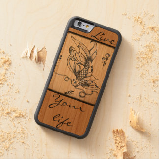 Live life carved cherry iPhone 6 bumper case