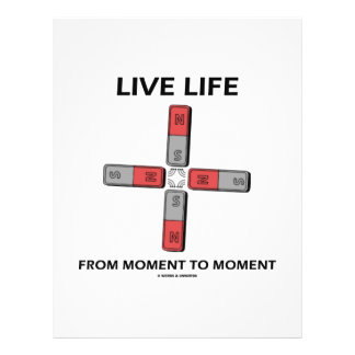 Live Life From Moment To Moment (Quadrupole) 21.5 Cm X 28 Cm Flyer