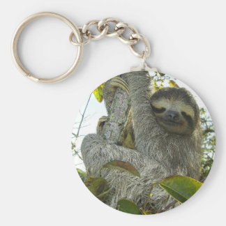 Live Life Like a Sloth Basic Round Button Key Ring