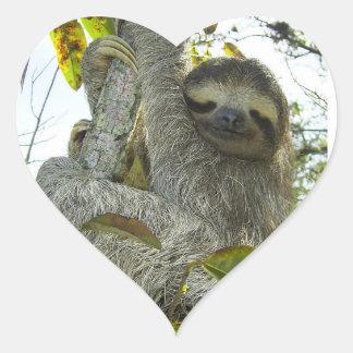 Live Life Like a Sloth Heart Sticker