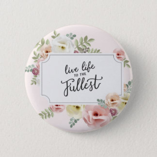 Live life motivational quote badge