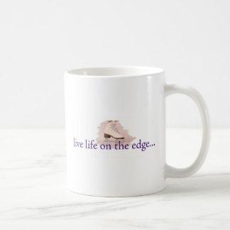 Live life on the edge... basic white mug