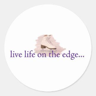 Live life on the edge... round sticker