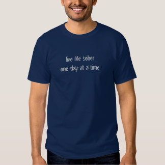 live life sober, one day at a time tee shirts