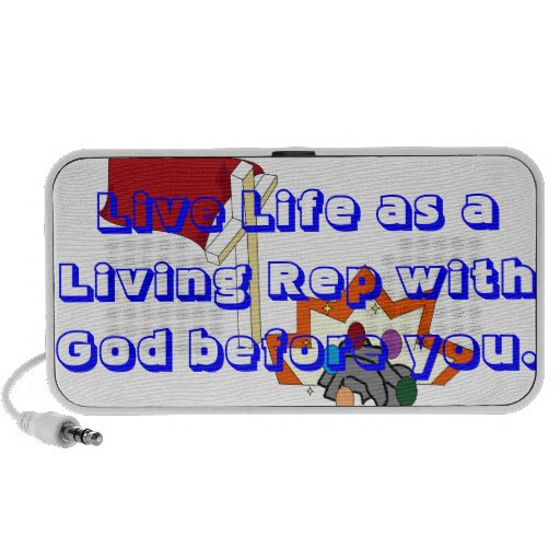 Live Life with God in front of you Notebook Speakers
